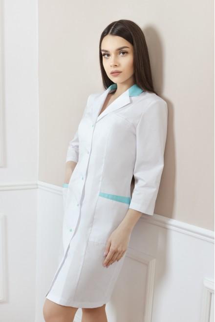Халат женский | 118 (отделка бирюзового цвета)